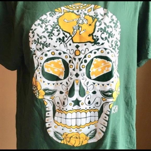 America s Finest Apparel Other - Sugar skull Jeremy Nash Green Bay Packers  men s t d3d1cd419